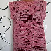 """Одежда ручной работы. Ярмарка Мастеров - ручная работа Топ """"Розы"""" в филейной технике. Handmade."""