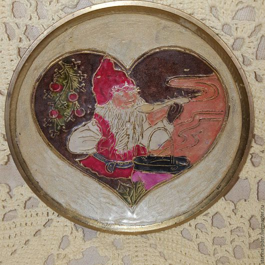 Винтажная посуда. Ярмарка Мастеров - ручная работа. Купить Латунная тарелка.. Handmade. Комбинированный, латунь