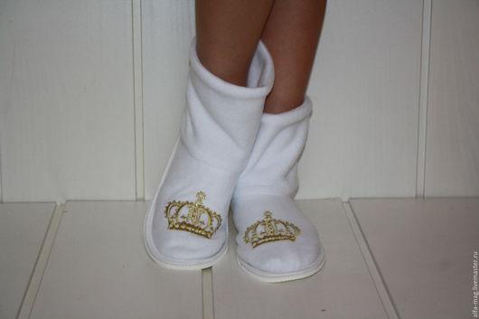 Обувь ручной работы. Ярмарка Мастеров - ручная работа. Купить Сапожки для принцессы. Handmade. Розовый, тапочки домашние, подарок девушке