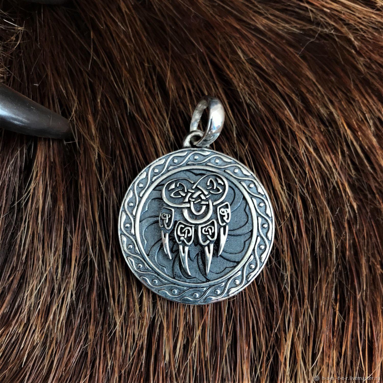 Veles seal wolf's paw(2,9 cm), Amulet, Kostroma,  Фото №1