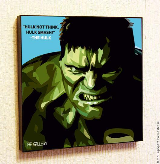 Люди, ручной работы. Ярмарка Мастеров - ручная работа. Купить Картина Поп Арт Халк Marvel Hulk. Handmade. Халк