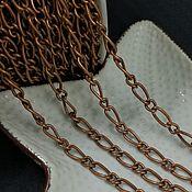 Материалы для творчества handmade. Livemaster - original item Figaro chain copper (Ref. 2979). Handmade.