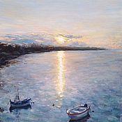 Картины и панно handmade. Livemaster - original item Oil painting Sun path Canvas Oil. Handmade.