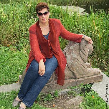 """Одежда ручной работы. Ярмарка Мастеров - ручная работа Вязаное пальто из кид-мохера """"Огненная осень"""". Handmade."""