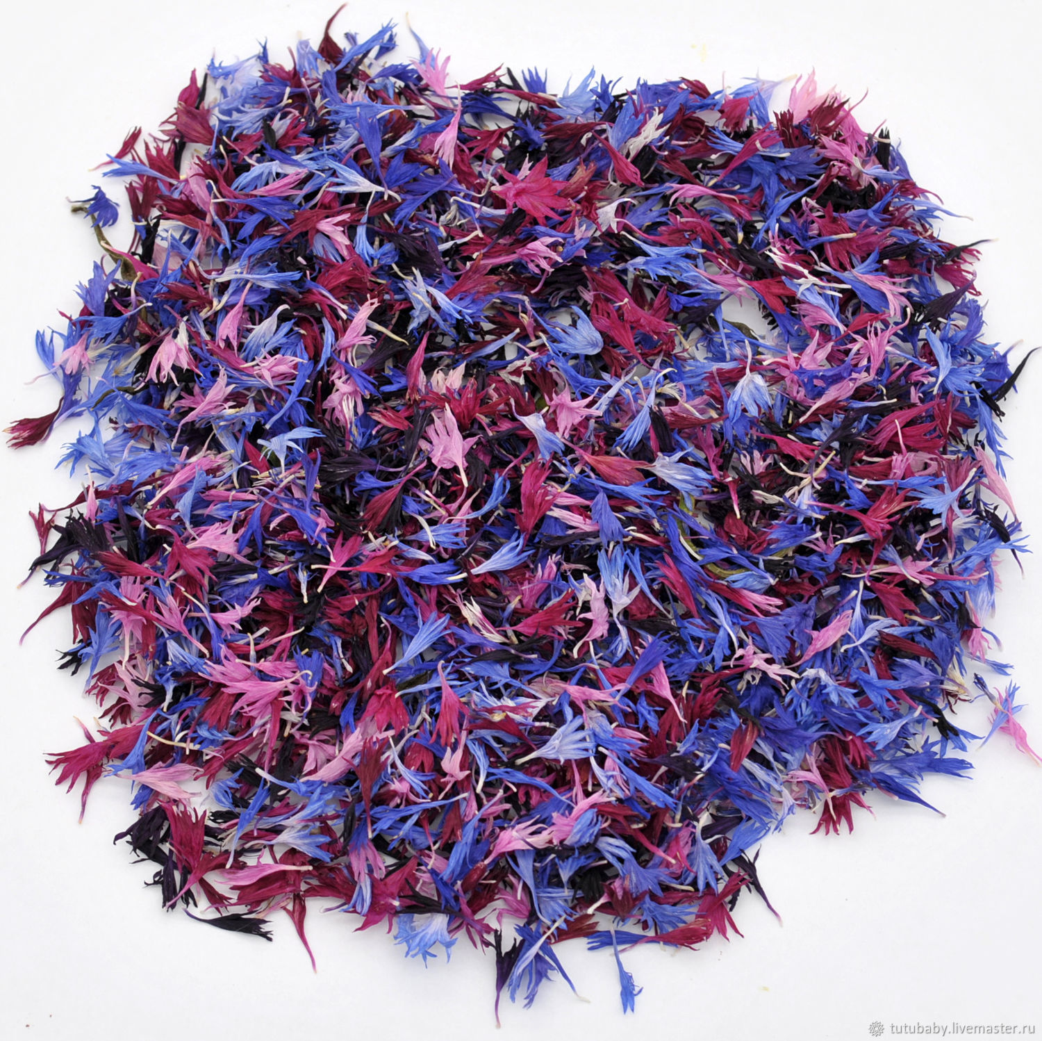 Cornflower petals, volume drying, collection 2020g, The dried flowers, Buzuluk,  Фото №1