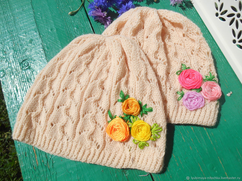 Ажурная шапочка для девочки на лето, Шапки, Омск,  Фото №1