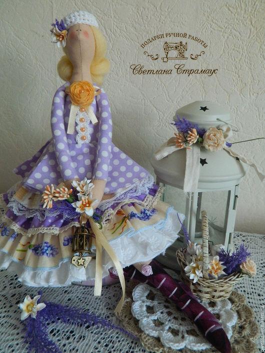 Куклы Тильды ручной работы. Ярмарка Мастеров - ручная работа. Купить Кукла Тильда -  Лавандовое настроение. Handmade. Бледно-сиреневый