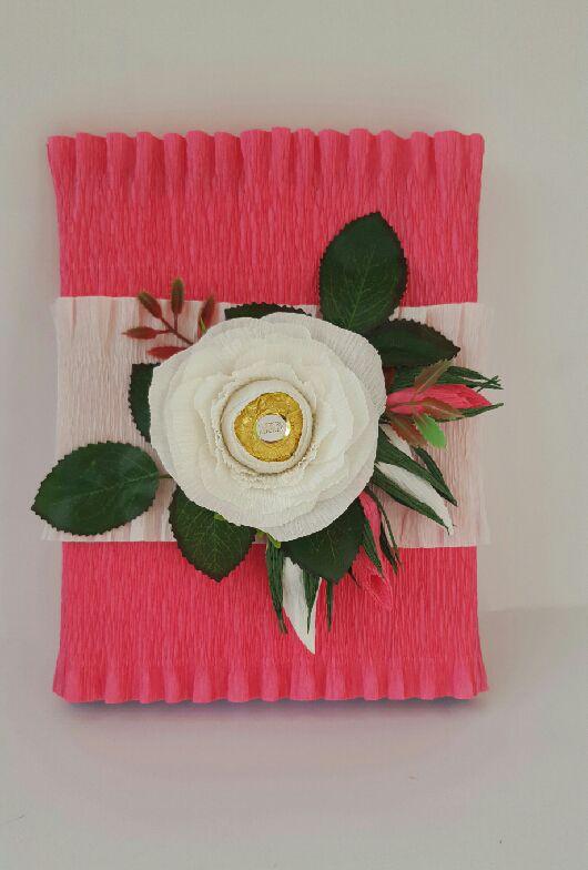 """Букеты ручной работы. Ярмарка Мастеров - ручная работа. Купить Оформление коробки конфет """"Мерси"""". Handmade. Подарок, подарок женщине"""