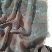 Аксессуары ручной работы. Ярмарка Мастеров - ручная работа Кашемировый шарф Галактика,шерстяной шарф эко окрашивание. Handmade.