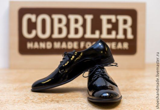 """Обувь ручной работы. Ярмарка Мастеров - ручная работа. Купить Классические черные туфли """"Смокинг"""". Handmade. Черный, классические туфли"""