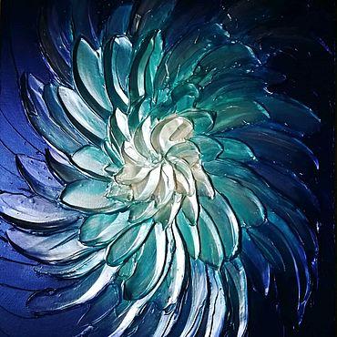 Для дома и интерьера ручной работы. Ярмарка Мастеров - ручная работа Интерьерная картина, Синий цветок. Handmade.