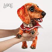 Куклы и игрушки ручной работы. Ярмарка Мастеров - ручная работа Сильва щенок таксы. Handmade.