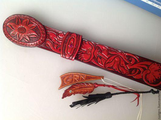Пояса, ремни ручной работы. Ярмарка Мастеров - ручная работа. Купить ремень женский из натуральной кожи Шеридан. Handmade. Цветочный