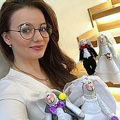 Тильда Зверята ручной работы. Ярмарка Мастеров - ручная работа Свадебные зайцы, подарок на свадьбу, подарок на годовщину. Handmade.
