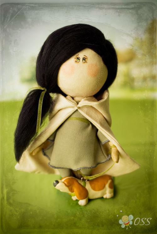Человечки ручной работы. Ярмарка Мастеров - ручная работа. Купить Амелия. Handmade. Интерьерная кукла, авторская кукла, бязь, хлопок
