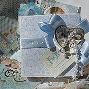 """Открытки ручной работы. Ярмарка Мастеров - ручная работа Коробочка-открытка """"С новорожденным"""".. Handmade."""