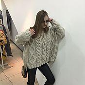 Одежда handmade. Livemaster - original item Oversized sweater with braids. Handmade.