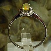 Украшения handmade. Livemaster - original item Silver ring with Noble Opal, size. 18,5. Handmade.
