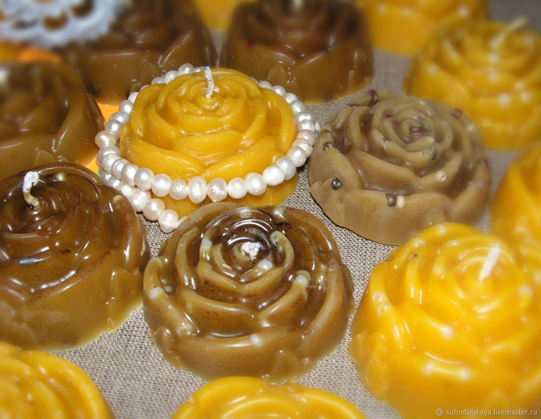 Восковые свечи в форме розы, Свечи, Рязань,  Фото №1