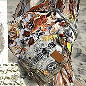 Сумки и аксессуары ручной работы. Ярмарка Мастеров - ручная работа Лето/море/сумо)собакоВо  фермуАр серебро сумка бежевый шоколад купить. Handmade.