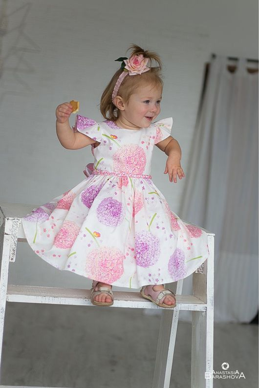 """Одежда для девочек, ручной работы. Ярмарка Мастеров - ручная работа. Купить """"Розовые одуванчики """". Handmade. Платье, платье для фотосессии"""