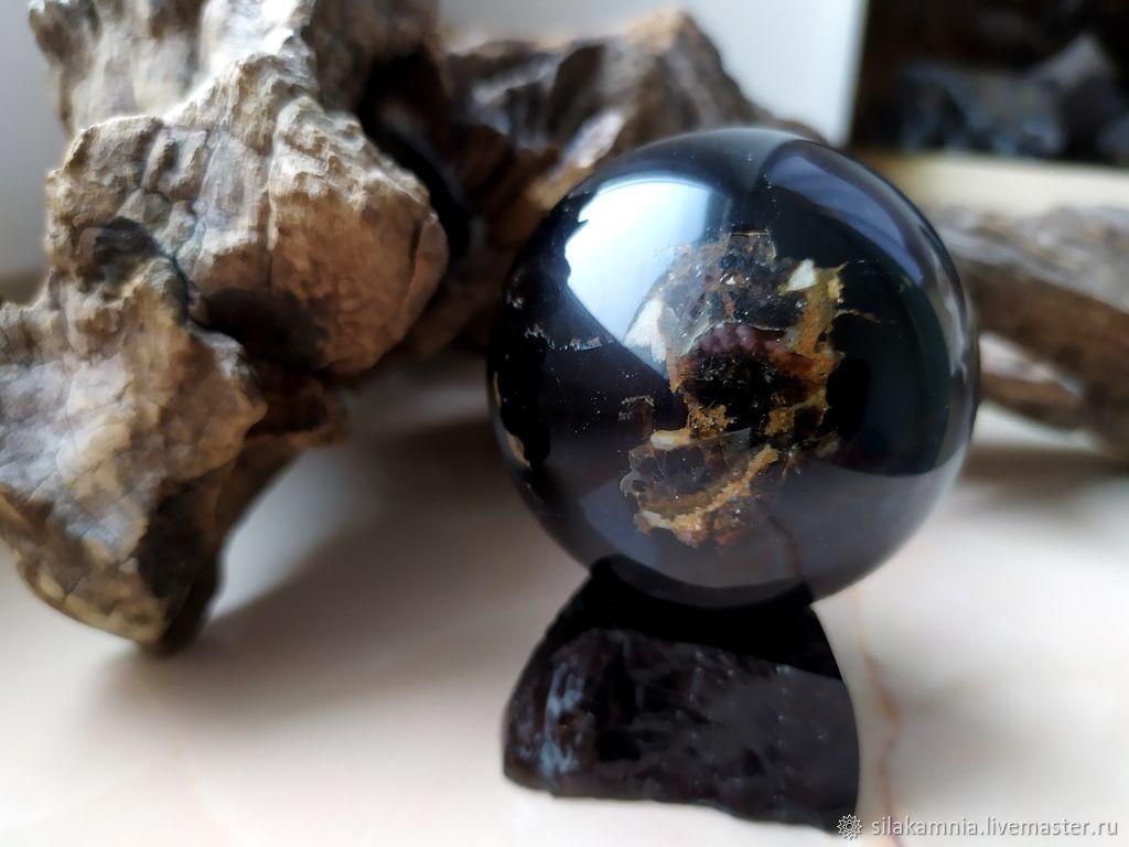 Morion ball with smoky quartz, Ball, Odessa,  Фото №1