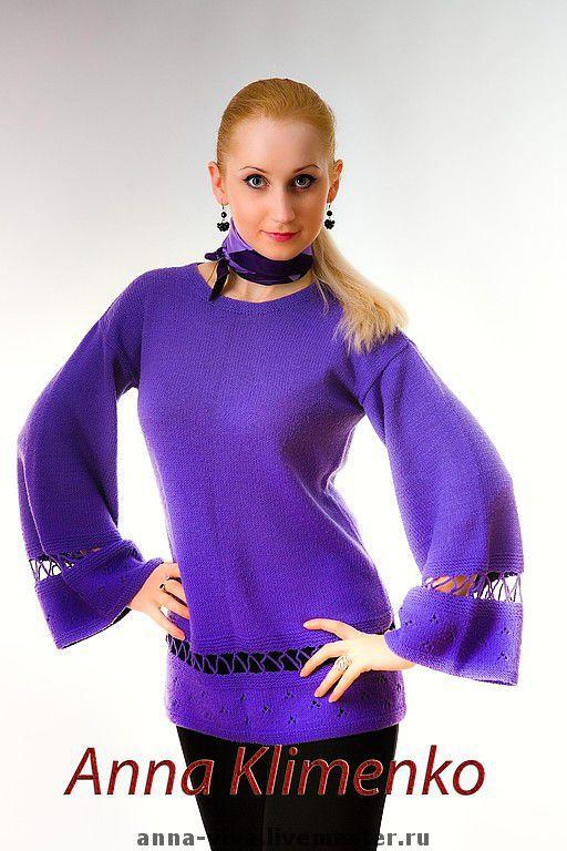 """Кофты и свитера ручной работы. Ярмарка Мастеров - ручная работа. Купить Кардиган """"Ах, этот стиль!"""". Handmade. Оригинальный, сиреневый цвет"""