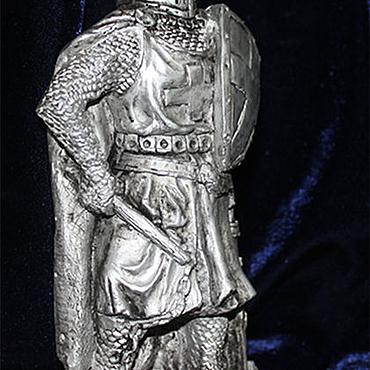 Тевтонский рыцарь Кёнигсберг  OSTPREUSSEN реплика с отделкой янтарем