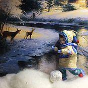 Мягкие игрушки ручной работы. Ярмарка Мастеров - ручная работа Серия «Дети зимой». Федотка. Handmade.