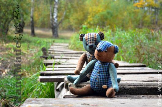 Мишки Тедди ручной работы. Ярмарка Мастеров - ручная работа. Купить медвежонок. Handmade. Комбинированный, интерьерная игрушка, уютный интерьер