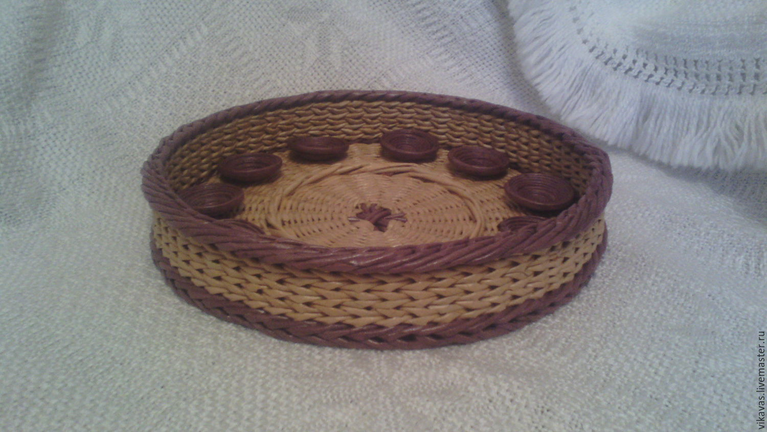 Tray wicker round, Basket, Moscow,  Фото №1