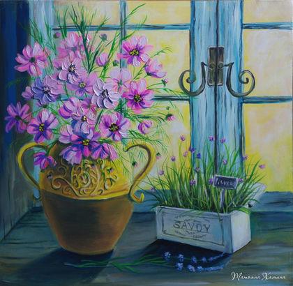 Картины цветов ручной работы. Ярмарка Мастеров - ручная работа. Купить Картина