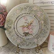 """Часы классические ручной работы. Ярмарка Мастеров - ручная работа Часы настенные """"Любимые розы"""". Handmade."""