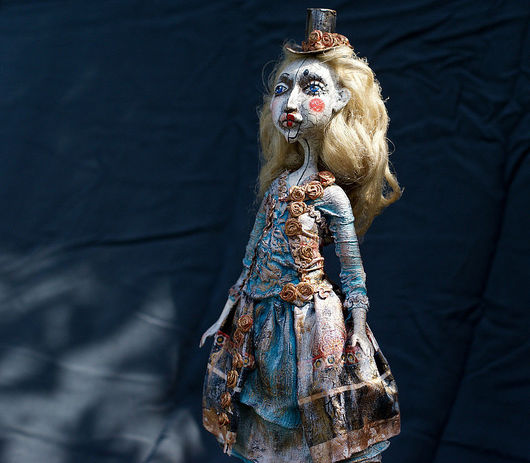 Коллекционные куклы ручной работы. Ярмарка Мастеров - ручная работа. Купить Шарлотта, цирковая кукла. Handmade. Авторская кукла, хлопок