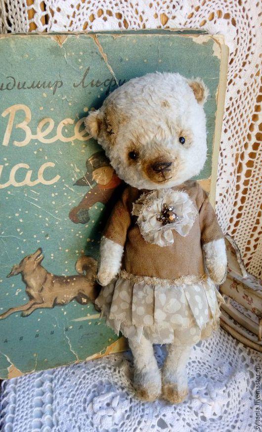 Авторский мишка тедди.  Мишка  Свиткиной Татьяны. Авторский медведь. Мишка в винтажном стиле. Мишка в стиле тортюр. .