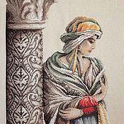 Картины и панно ручной работы. Ярмарка Мастеров - ручная работа Вышитая крестом картина Moorish woman. Handmade.