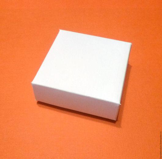 """Упаковка ручной работы. Ярмарка Мастеров - ручная работа. Купить Коробка 5х5х2 """"крышка-дно"""" фактурная - лен белый. Handmade."""