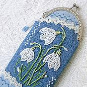 Сумки и аксессуары handmade. Livemaster - original item Case for glasses bead Crocuses. Handmade.