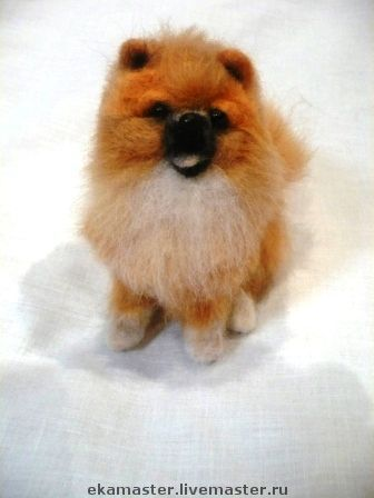 Animal Toys handmade. Livemaster - handmade. Buy Toy felted. Dog Spitz Gear.Dog, toy gift, collectible toys