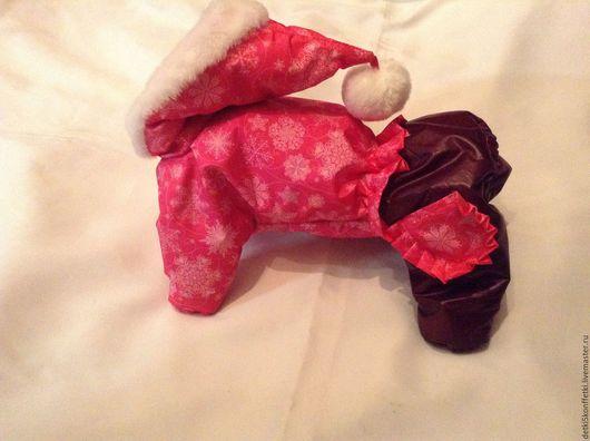 Одежда для собак, ручной работы. Ярмарка Мастеров - ручная работа. Купить Алый гномик - зимний комбинезон для Вашего любимца.. Handmade.