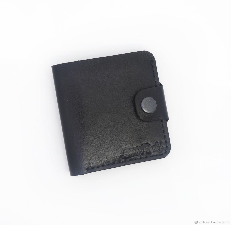 Кожаный кошелек Hamburg черный, Кошельки, Феодосия,  Фото №1