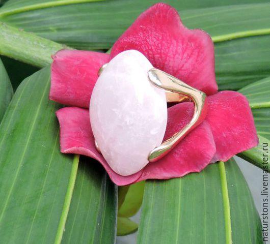 Кольца ручной работы. Ярмарка Мастеров - ручная работа. Купить кольцо с розовым кварцем. Handmade. Розовый, уникальное украшение