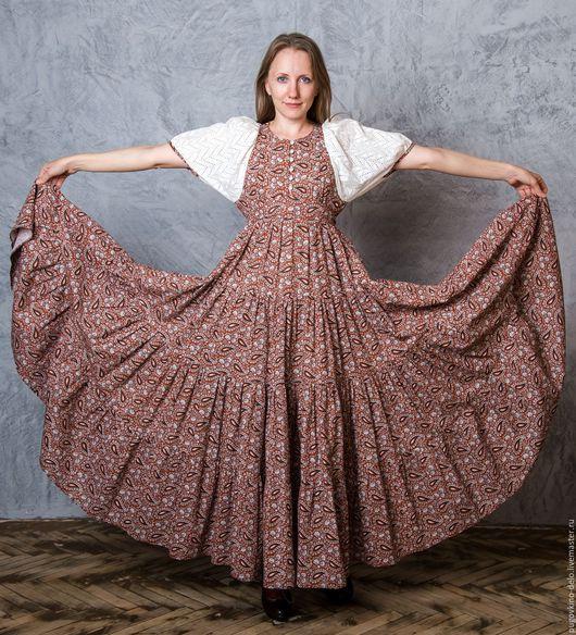 Платья ручной работы. Ярмарка Мастеров - ручная работа. Купить Платье для кормящей мамы (ивановская бязь). Handmade. Пейсли