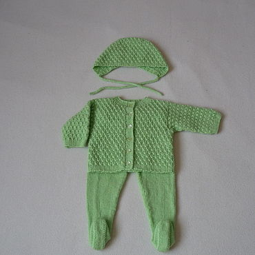 Works for children handmade. Livemaster - original item Clothing Sets: Set for a newborn baby girl. Handmade.