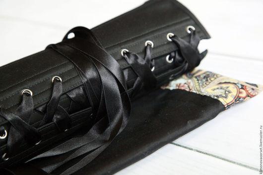 Корсеты ручной работы. Ярмарка Мастеров - ручная работа. Купить Корсет с объемной вышивкой. Handmade. Черный, утягивающий корсет, вышивка