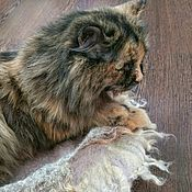 Аксессуары для питомцев ручной работы. Ярмарка Мастеров - ручная работа Домик для кошки, лежанка для кошки. Handmade.