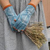 Аксессуары handmade. Livemaster - original item Wool tweed gloves. Handmade.