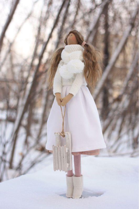 Куклы Тильды ручной работы. Ярмарка Мастеров - ручная работа. Купить Тильда Зимняя принцесса. Кукла текстильная интерьерная.. Handmade.
