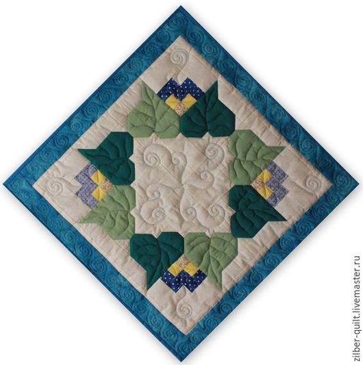 Картины цветов ручной работы. Ярмарка Мастеров - ручная работа. Купить Панно текстильное  Веночек, пэчворк. Handmade. Панно