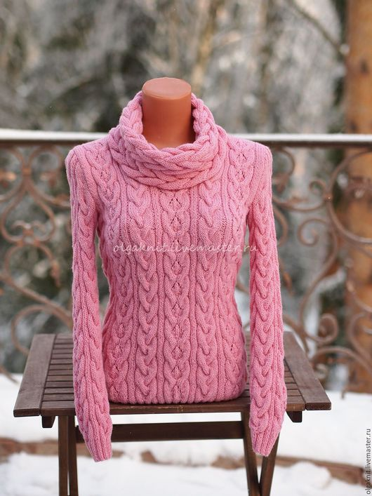 Кофты и свитера ручной работы. Ярмарка Мастеров - ручная работа. Купить Нежно-розовый пуловер из мериносовой шерсти. Handmade. Розовый
